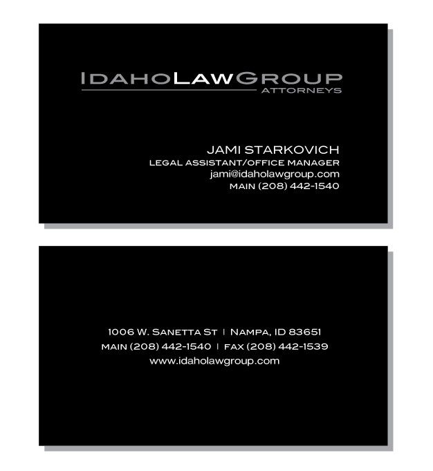 Idaho Law Group business cards