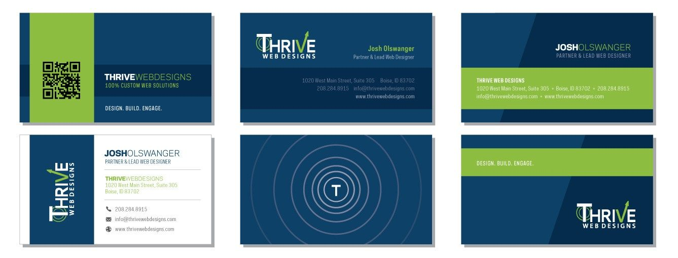 Thrive business card designs