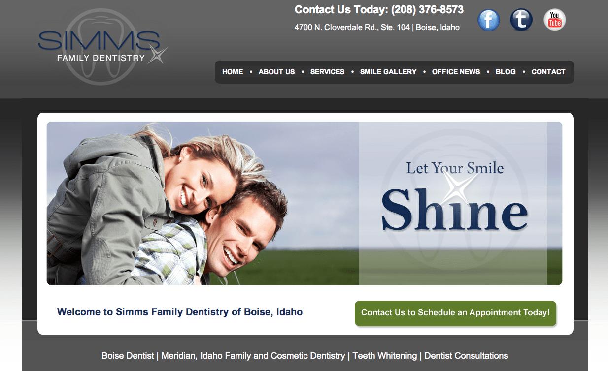 Boise Dentist Custom Website