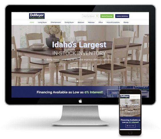 Screenshot of DeMeyer Website